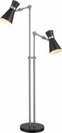 Z-Lite 728FL-MB-BN Soriano Modern Matte Black / Brushed Nickel Floor Lamp
