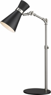 Z-Lite 728TL-MB-BN Soriano Modern Matte Black / Brushed Nickel Desk Lamp