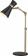Z-Lite 728TL-MB-HBR Soriano Contemporary Matte Black / Heritage Brass Reading Light