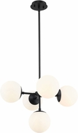 Z-Lite 730-5MB Midnetic Contemporary Matte Black Hanging Lamp