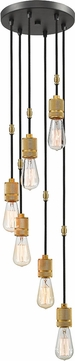 Z-Lite 8001-6P-BRZ Troubadour Contemporary Bronze Multi Drop Lighting Fixture