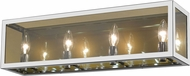 Z-Lite 802-4V-CH Infinity Modern Chrome 4-Light Bath Lighting Fixture