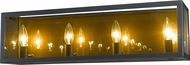Z-Lite 802-4V-MC Infinity Contemporary Misty Charcoal 4-Light Bathroom Light Fixture