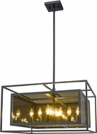 Z-Lite 802P24-MC Infinity Contemporary Misty Charcoal Pendant Hanging Light