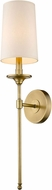 Z-Lite 807-1S-RB Emily Rubbed Brass Wall Light Fixture