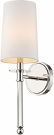 Z-Lite 808-1S-PN Mila Polished Nickel Wall Sconce Lighting