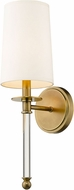 Z-Lite 808-1S-RB Mila Rubbed Brass Wall Mounted Lamp