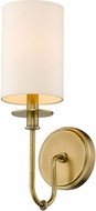 Z-Lite 809-1S-RB Ella Rubbed Brass Wall Sconce Light