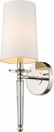 Z-Lite 810-1S-PN Avery Polished Nickel 19  Wall Lighting