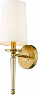 Z-Lite 810-1S-RB Avery Rubbed Brass 19  Sconce Lighting