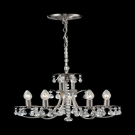 Z-Lite 852BN Pearl Traditional Brushed Nickel Mini Chandelier Light