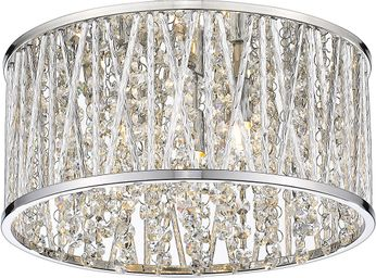 Z-Lite 872CH-RF12 Terra Chrome Halogen 12  Flush Mount Lighting