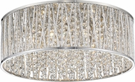 Z-Lite 872CH-RF18 Terra Chrome Halogen 19  Flush Mount Light Fixture