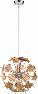 Z-Lite 9003P18-CHP Branam Modern Chrome & Champagne 18  Hanging Pendant Lighting