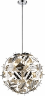 Z-Lite 9003P24-CH Branam Contemporary Chrome 25  Hanging Pendant Light