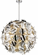 Z-Lite 9003P30-CH Branam Contemporary Chrome 30  Hanging Light Fixture