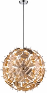 Z-Lite 9003P30-CHP Branam Modern Chrome & Champagne 30  Drop Lighting