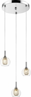 Z-Lite 905-3 Auge Contemporary ChromeHalogen Multi Ceiling Pendant Light