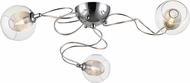 Z-Lite 905-3SF Auge Modern ChromeHalogen Ceiling Light Fixture