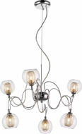 Z-Lite 905-6A Auge Contemporary ChromeHalogen Chandelier Light