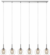 Z-Lite 905-6B Auge Modern ChromeHalogen Multi Pendant Lighting