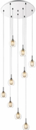 Z-Lite 905-9 Auge Contemporary ChromeHalogen Multi Pendant Light
