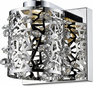 Z-Lite 906-1S-LED Fortuna Chrome LED Lighting Sconce