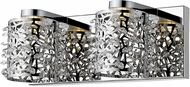 Z-Lite 906-2V-LED Fortuna Chrome LED 2-Light Bathroom Vanity Light Fixture