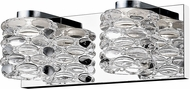 Z-Lite 907-2V-LED Dawson Modern Chrome LED 2-Light Bathroom Lighting Sconce