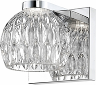 Z-Lite 909-1S-LED Laurentian Modern Chrome LED Wall Light Fixture