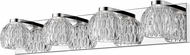 Z-Lite 909-4V-LED Laurentian Contemporary Chrome LED 4-Light Vanity Light