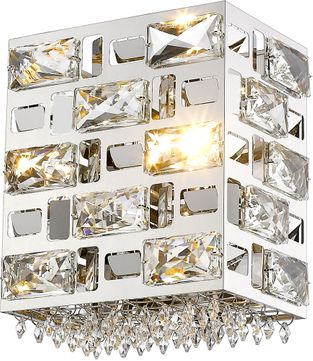 Z-Lite 912-1S-CH Aludra Chrome Halogen Wall Sconce