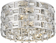 Z-Lite 912F12-CH Aludra Chrome Halogen 12  Flush Mount Lighting Fixture