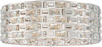 Z-Lite 912F21-CH Aludra Contemporary Chrome Halogen Ceiling Light Fixture