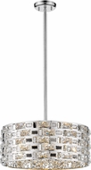 Z-Lite 912P-CH Aludra Chrome Halogen Drum Ceiling Light Pendant