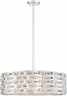 Z-Lite 912P24-CH Aludra Modern Chrome Halogen Drum Drop Ceiling Lighting