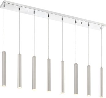 Z-Lite 917MP12-BN-LED-8LCH Forest Contemporary Satin Nickel LED Multi Drop Lighting