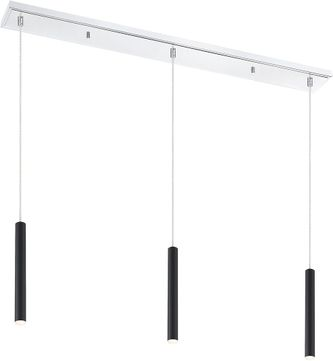 Z-Lite 917MP12-MB-LED-3LCH Forest Modern Matte Black LED Multi Ceiling Pendant Light