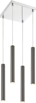 Z-Lite 917MP12-PBL-LED-4SCH Forest Modern Pearl Black LED Multi Hanging Light Fixture