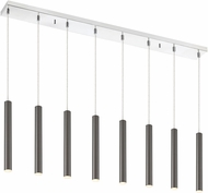 Z-Lite 917MP12-PBL-LED-8LCH Forest Modern Pearl Black LED Multi Drop Ceiling Lighting