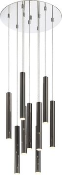 Z-Lite 917MP12-PBL-LED-9RCH Forest Contemporary Pearl Black LED Multi Ceiling Light Pendant