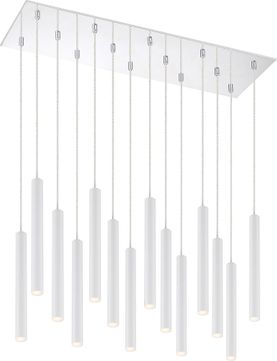 Z-Lite 917MP12-WH-LED-14LCH Forest Modern Matte White LED Multi Pendant Light