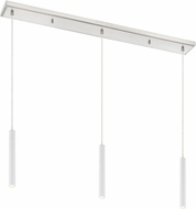 Z-Lite 917MP12-WH-LED-3LBN Forest Contemporary Matte White LED Multi Hanging Lamp