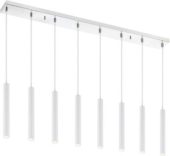 Z-Lite 917MP12-WH-LED-8LCH Forest Contemporary Matte White LED Multi Hanging Pendant Lighting