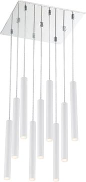 Z-Lite 917MP12-WH-LED-9SCH Forest Contemporary Matte White LED Multi Pendant Hanging Light