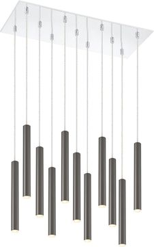 Z-Lite 917MP12PBL-LED-11LCH Forest Modern Pearl Black LED Multi Hanging Light