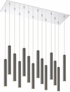 Z-Lite 917MP12PBL-LED-14LCH Forest Contemporary Pearl Black LED Multi Pendant Light Fixture