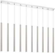 Z-Lite 917MP24-BN-LED-10LCH Forest Contemporary Satin Nickel LED Multi Drop Lighting