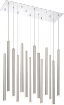 Z-Lite 917MP24-BN-LED-14LCH Forest Contemporary Satin Nickel LED Multi Ceiling Light Pendant