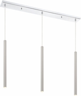 Z-Lite 917MP24-BN-LED-3LCH Forest Contemporary Satin Nickel LED Multi Pendant Lighting